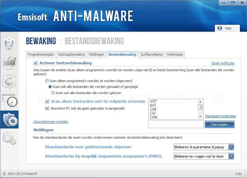 Emsisoft Anti-Malware Bestandsbewaking