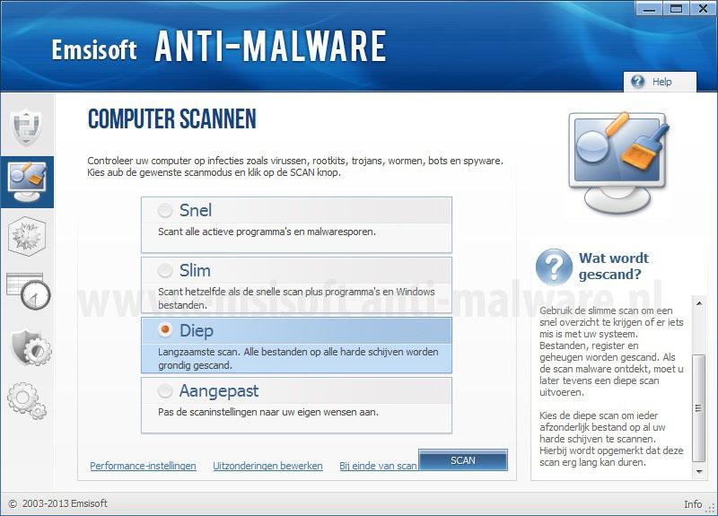 Emsisoft Anti-Malware Computer scannen