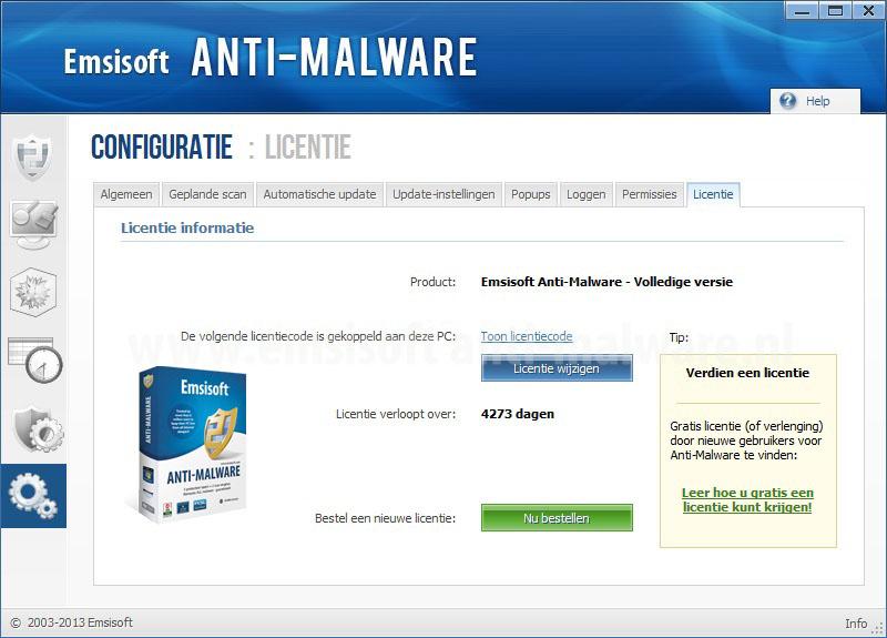 Emsisoft Anti-Malware Licentie