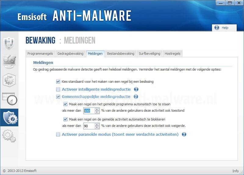 Emsisoft Anti-Malware Meldingen