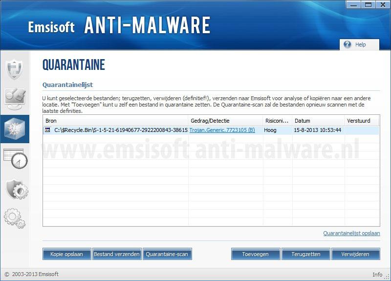 Emsisoft Anti-Malware Quarantaine