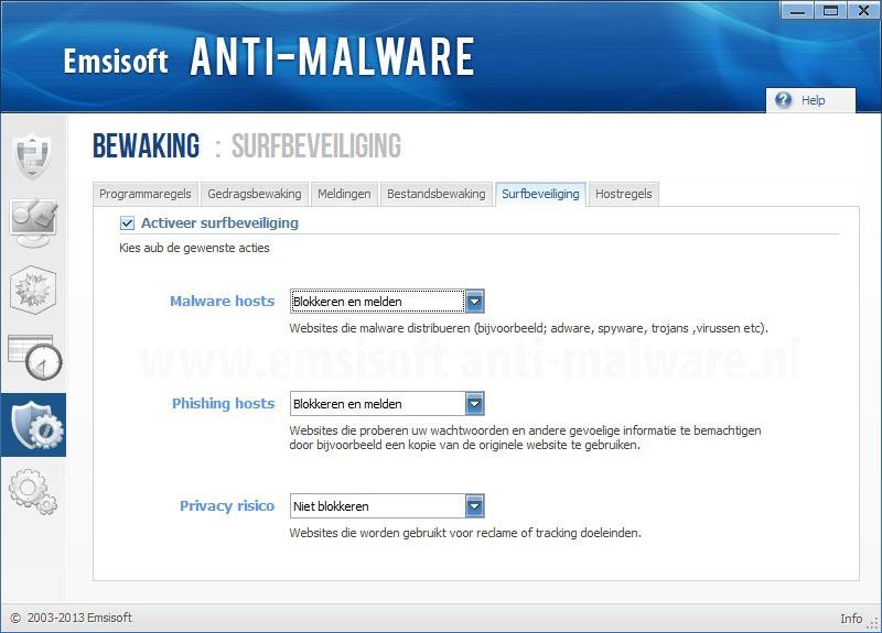 Emsisoft Anti-Malware Surfbeveiliging